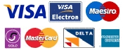 Credit Cards Accepted: Visa, Visa Electron, Maestro, Solo, Master Card, Delta and American Express