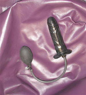 Rubber Inflatable Dildo Xl Semi Rigid 41